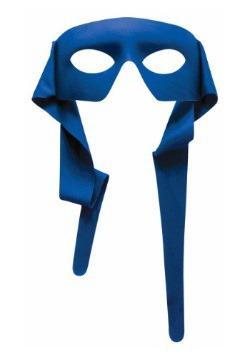 Blue Tie-On Eye Mask