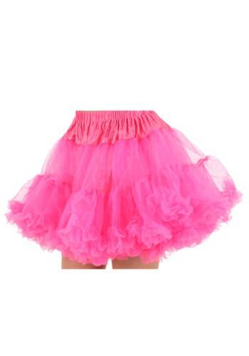 Plus Size Neon Pink Petticoat