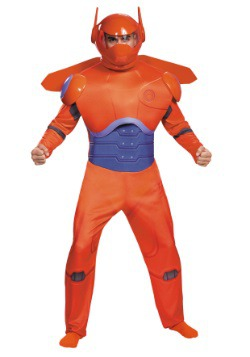 Adult Plus Size Red Baymax Deluxe Costume
