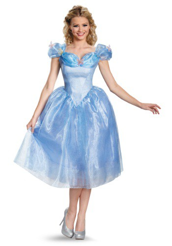 Womens Deluxe Cinderella Movie Costume