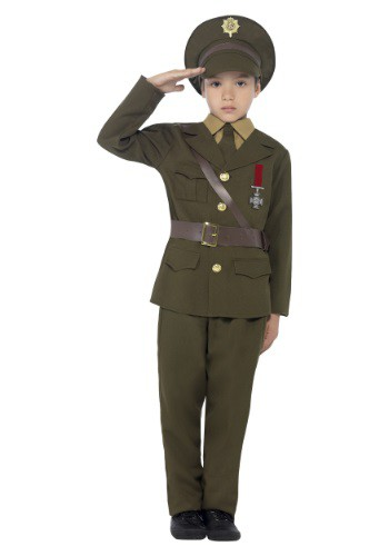 Child's Army Officer Costume
