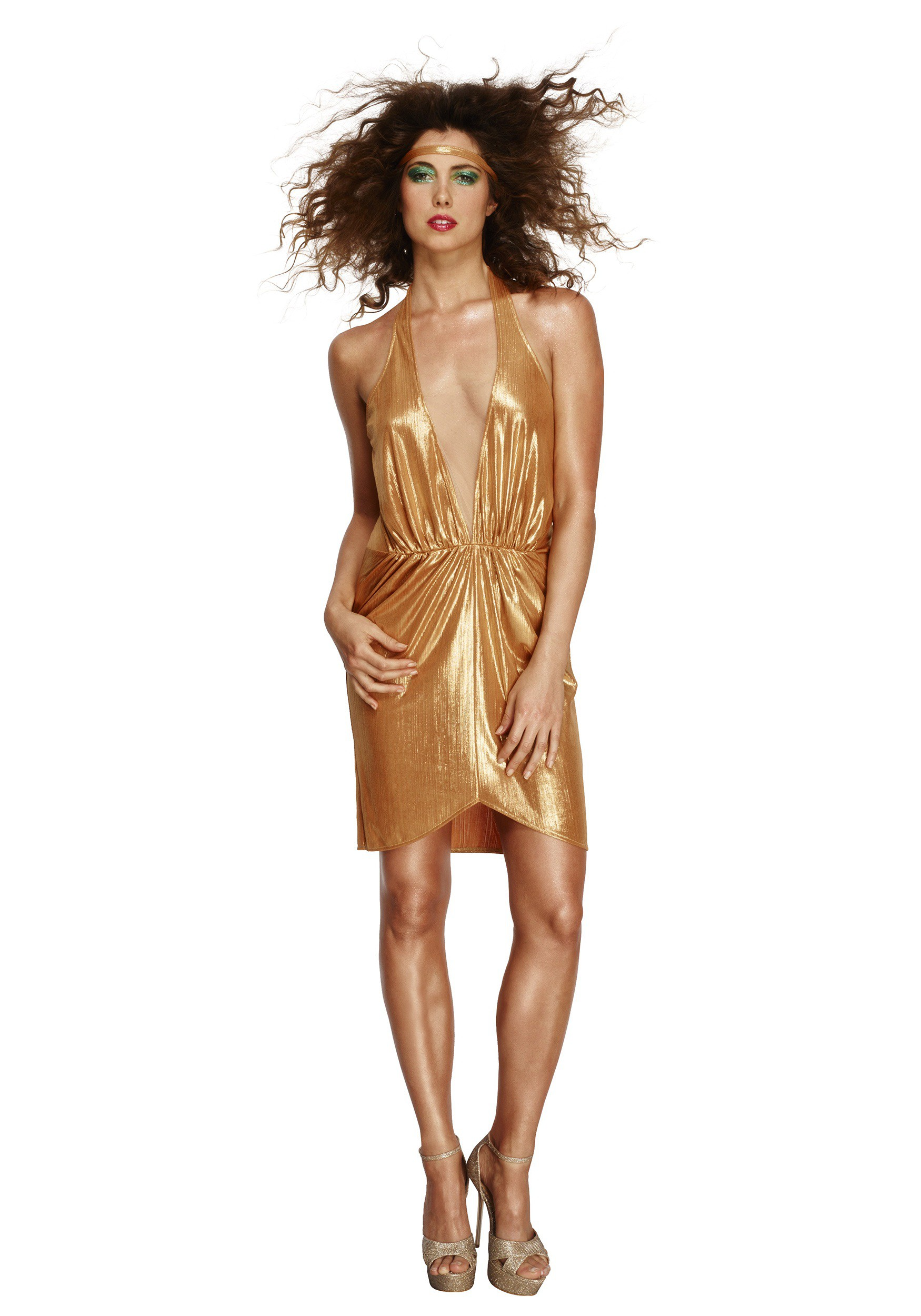 Woman S Gold 70 Disco Diva Costume