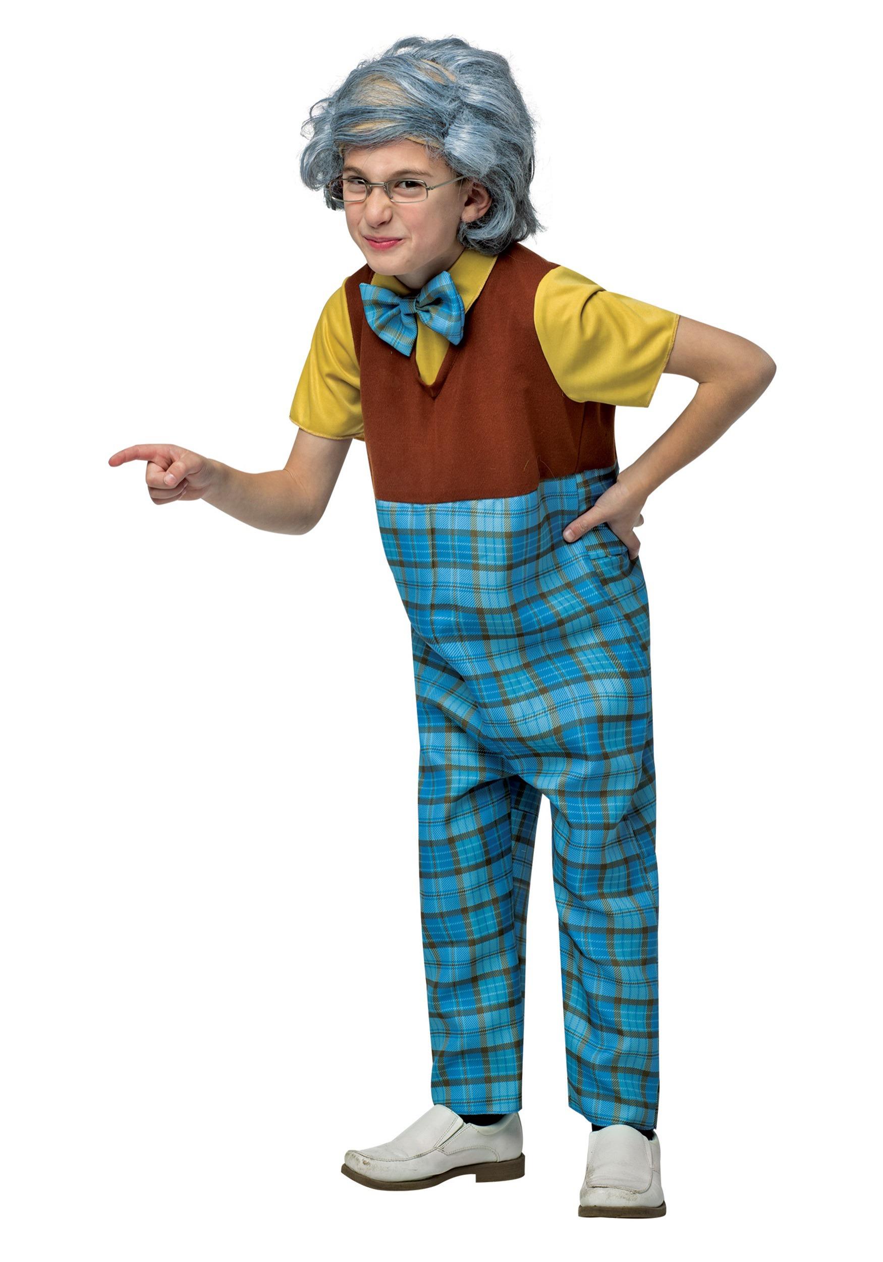 Old Man Grandpa CHILD Wig Costume Accessory NEW