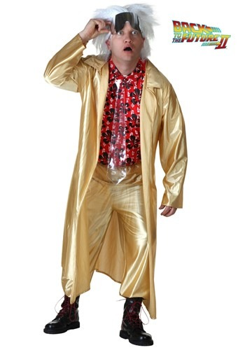 Plus Size Back to the Future II Doc Brown Costume