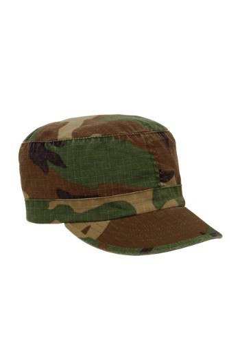 Women's Woodland Camouflage Fatigue Hat