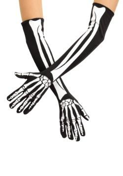 Adult Skeleton Opera Gloves