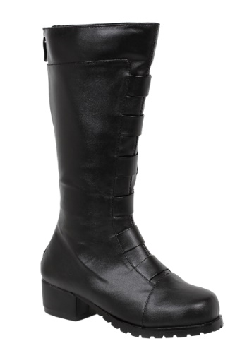 Kid's Black Deluxe Superhero Boots