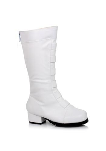 Kid's White Deluxe Superhero Boots