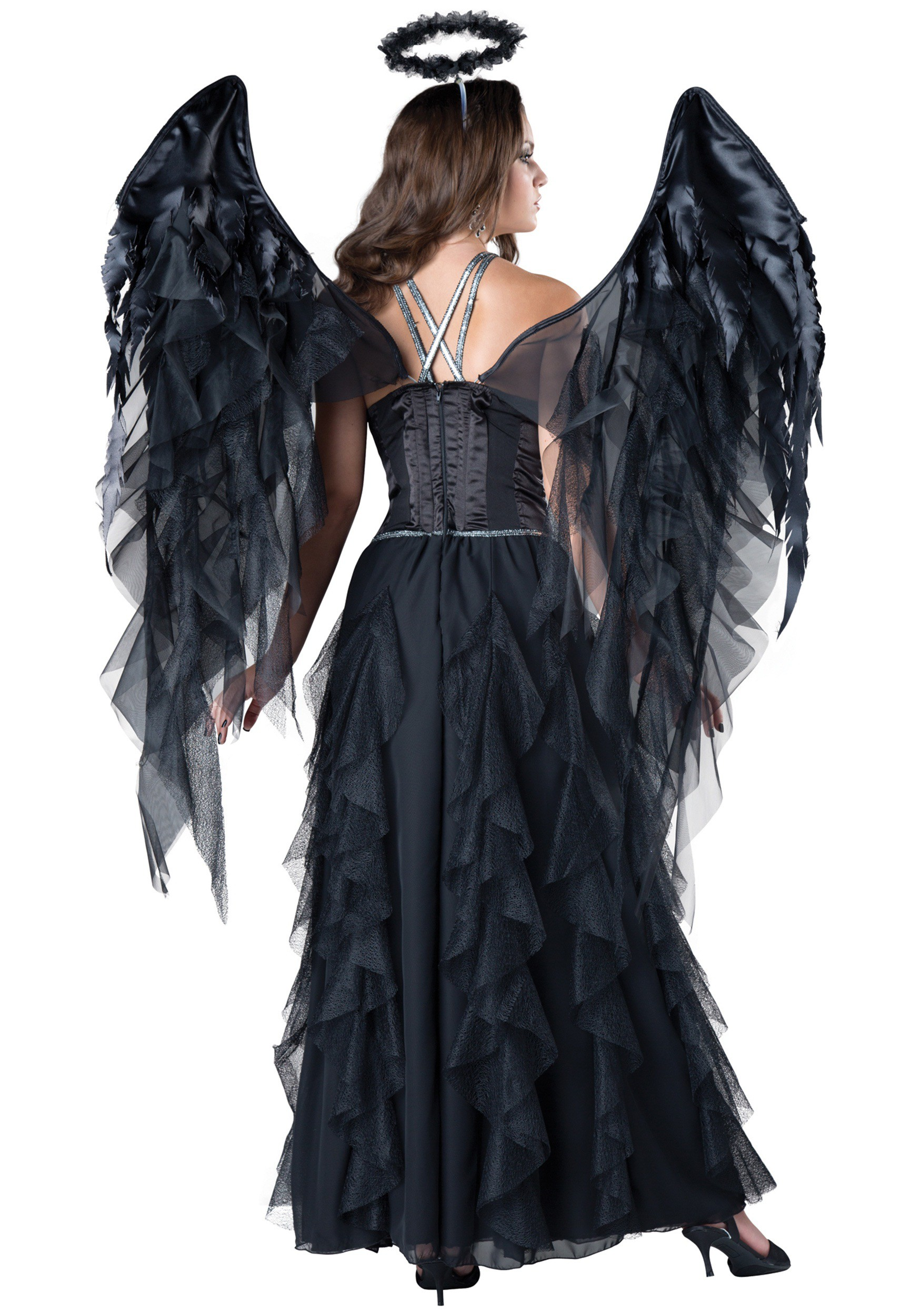 Women's Dark Angel Costume Women's Dark Angel Costume alt1