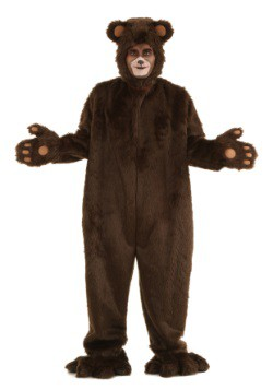 Adult Deluxe Furry Brown Bear Costume