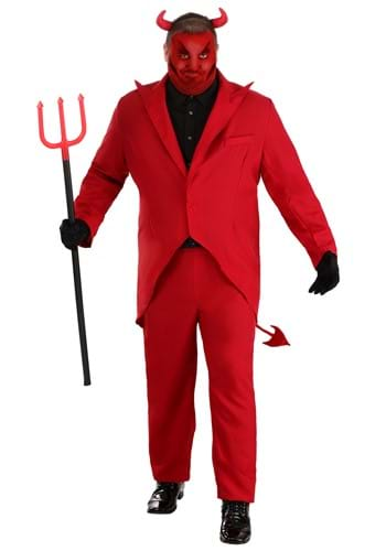 Plus Size Red Suit Devil Costume