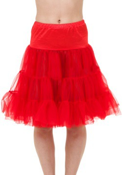 Adult Red Knee Length Crinoline