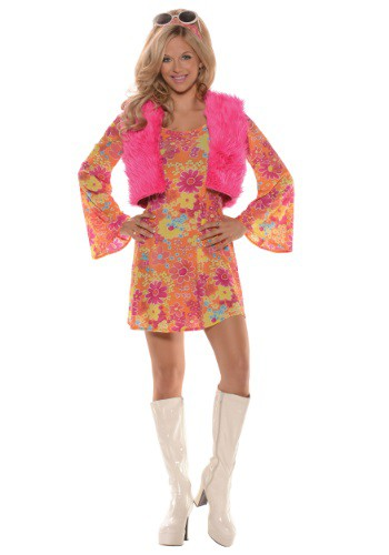Women's Pretty in Pink 70's Costume