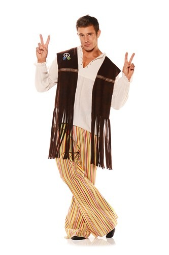 Adult Fringe Hippie Vest Costume