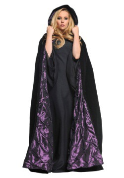 Deluxe Velvet Cape w/Purple Satin Lining
