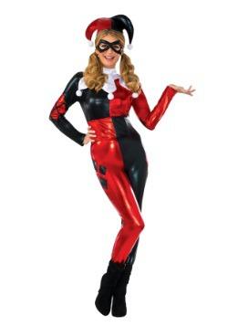 Women's Deluxe Harley Quinn Jumpsuit Costume