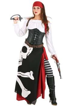 Plus Size Skeleton Flag Rogue Pirate Costume for Women main