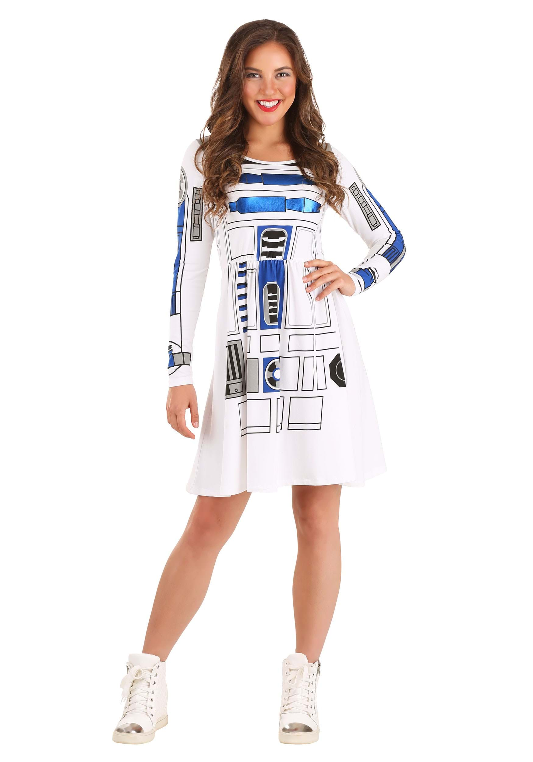 Star Wars I am R2D2 Skater Dress for Juniors Fancy Dress Costume