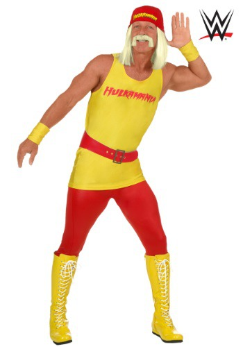 Men's Plus Size WWE Hulk Hogan Costume2
