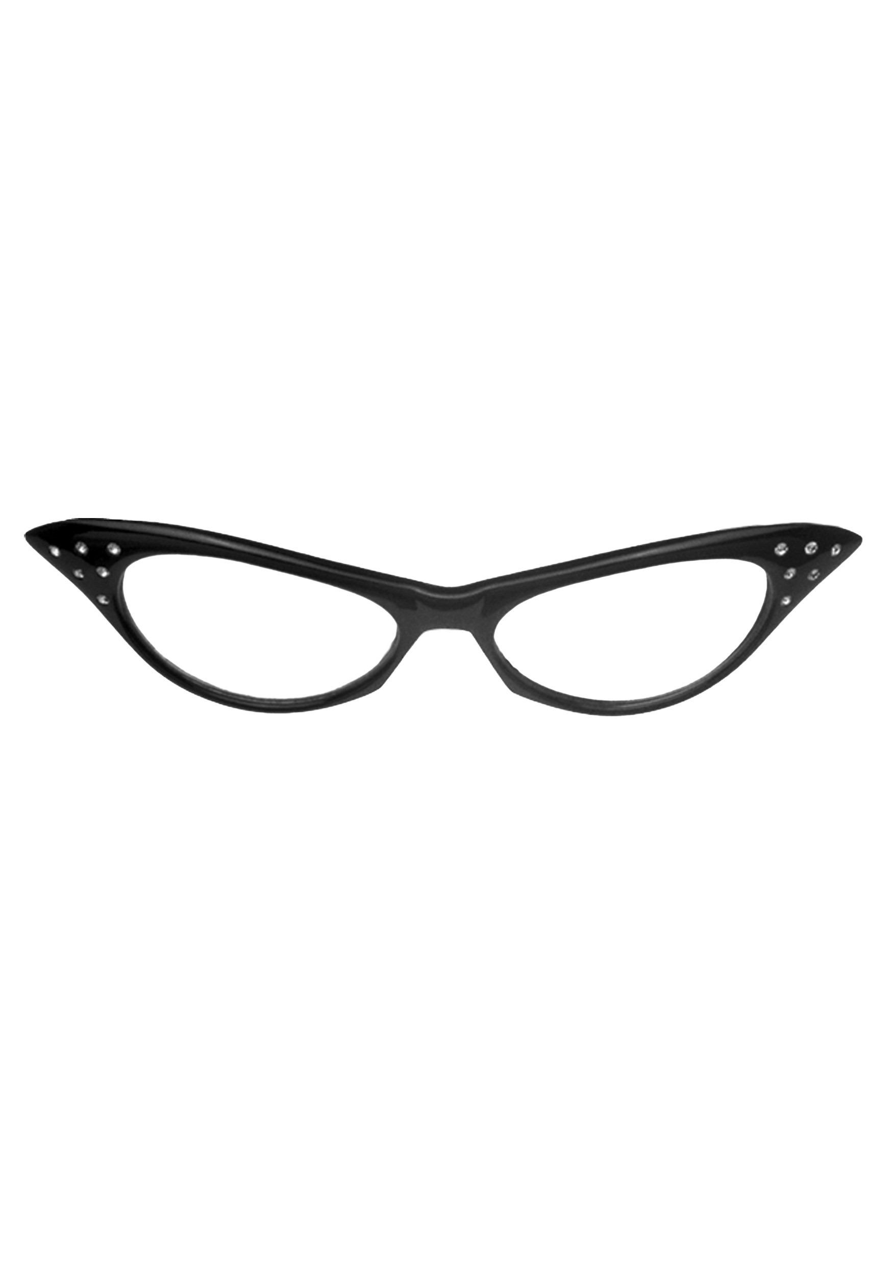 f4fceb01f0 50s Black Frame Glasses