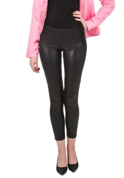 Black Shiny Leggings w/ Faux Front Fly