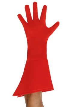 Adult Red Superhero Gloves