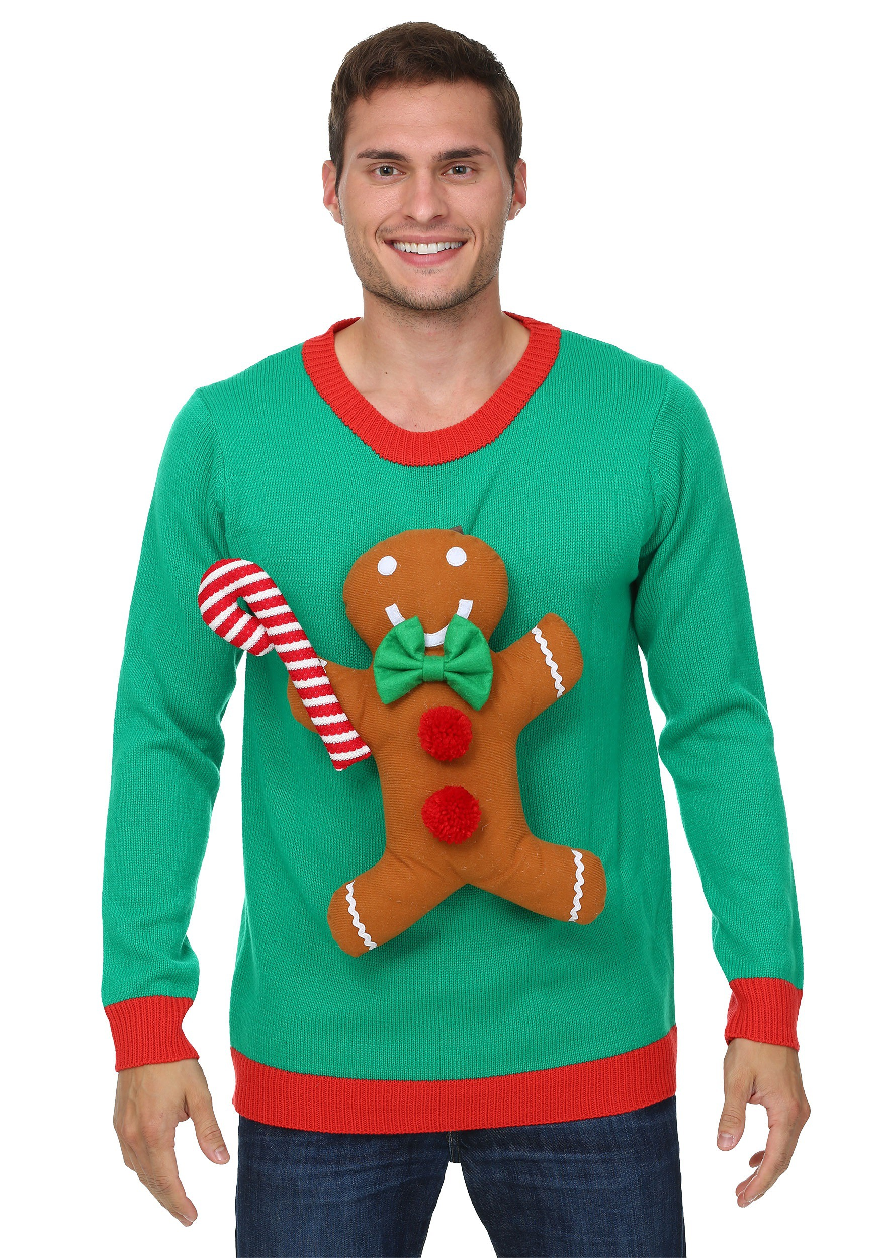 Official Cookie Tester Gingerbread Man Happy Adult Christmas Jumper Sweatshirt
