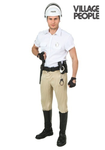 Plus Size Village People Police Costume