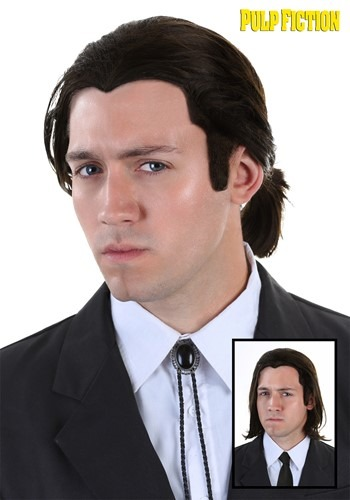 Pulp Fiction Vincent Vega Wig and Bolo Tie Set