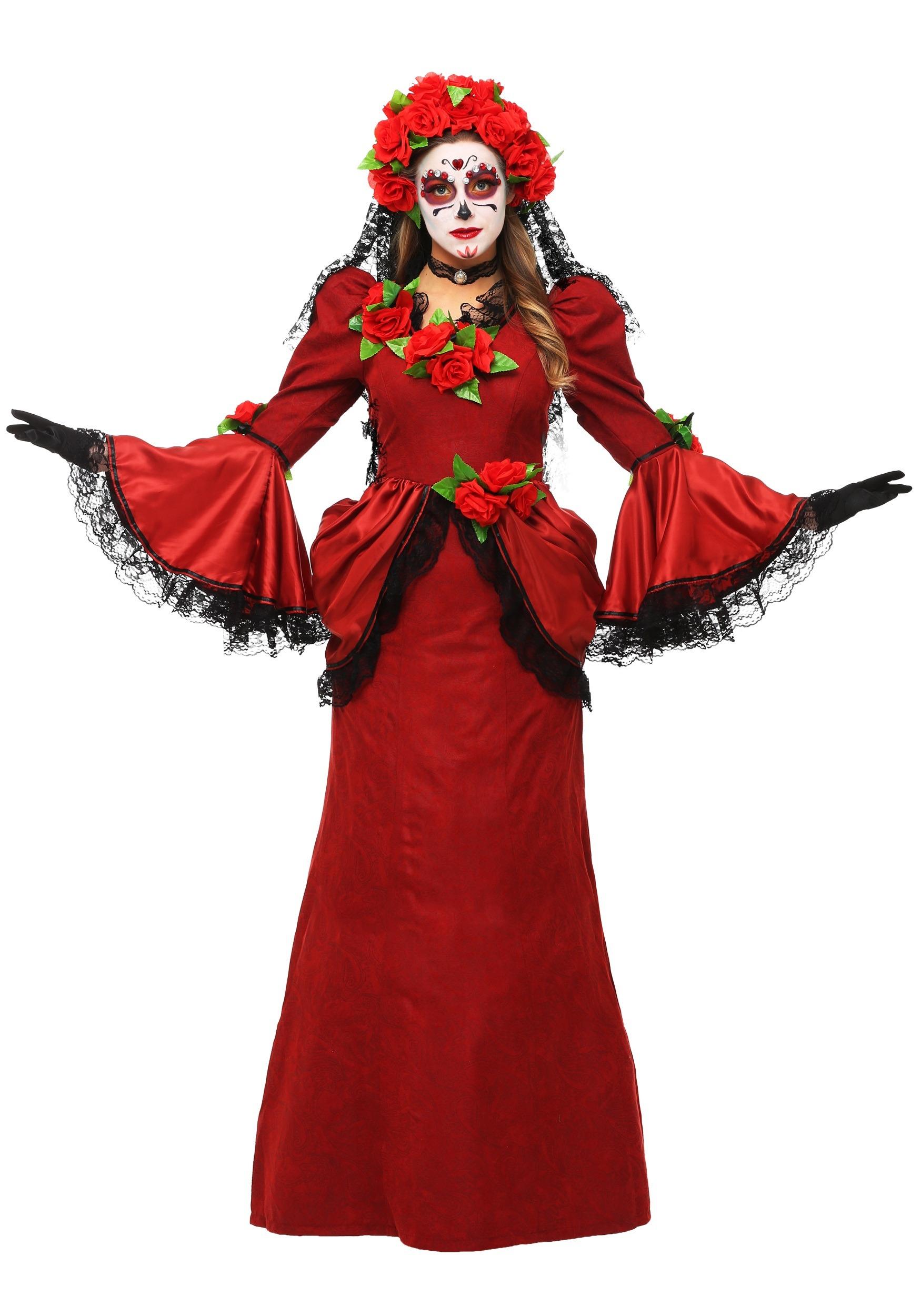 Day Of The Dead Costume Womens Day Of The Dead Senorita Costume