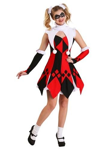 Cute Court Jester Plus Size Women's Costume