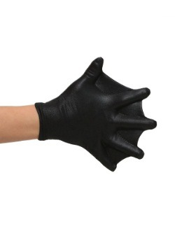 Child Black Webbed Gloves