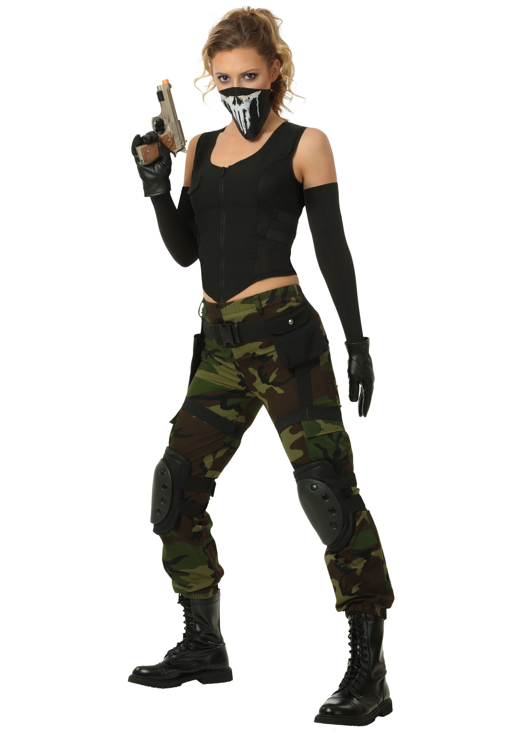 INOpets.com Anything for Pets Parents & Their Pets Fighting Soldier Plus Size Fancy Dress Costume for Women