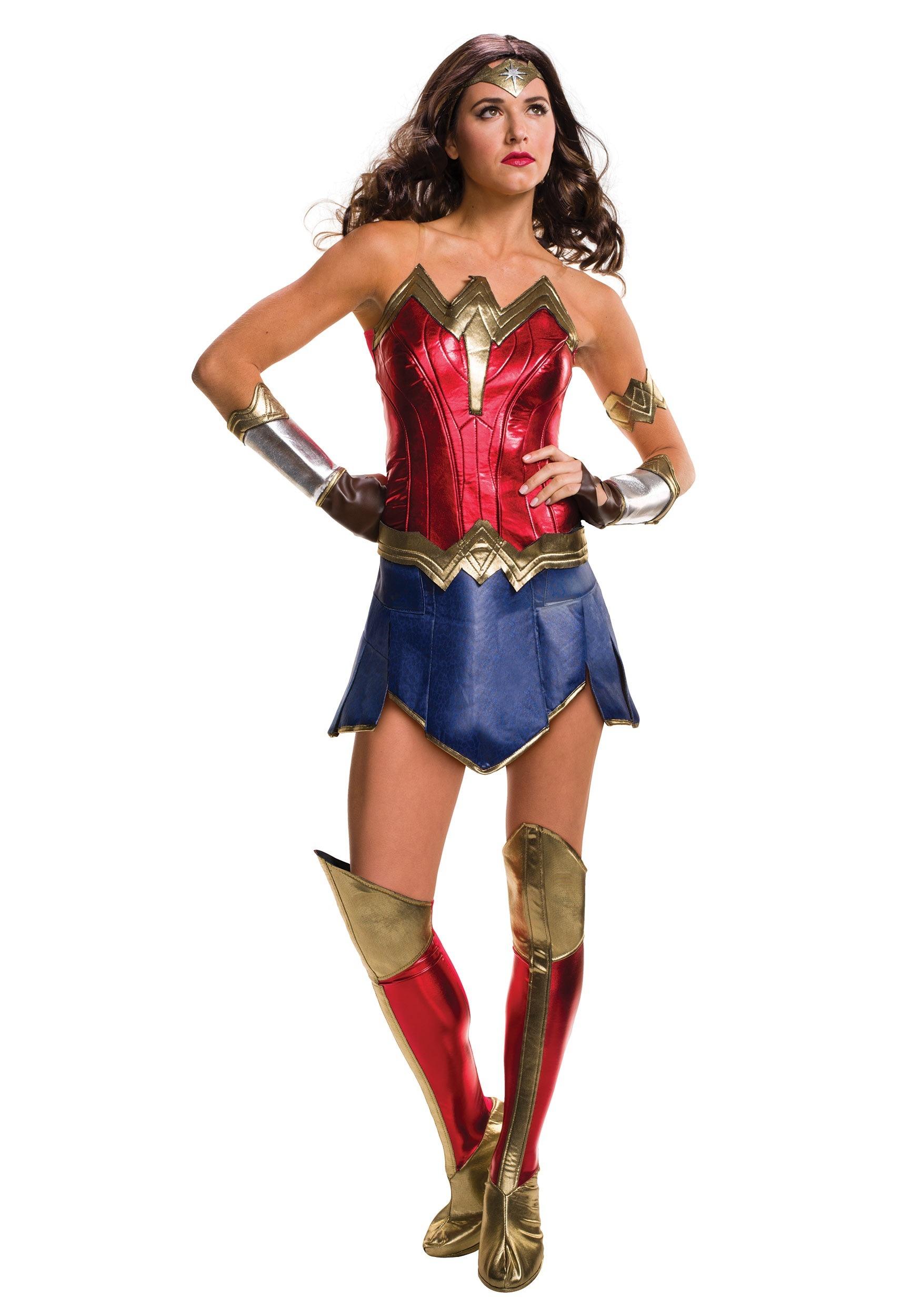 deluxe adult dawn of justice wonder woman costume rh halloweencostumes eu wonder woman custom colors Real Wonder Woman Costume