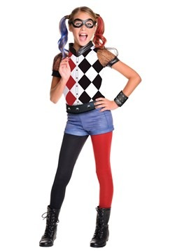 DC Superhero Girls Deluxe Harley Quinn Costume  sc 1 st  Halloween Costumes EU : batman halloween costume for girls  - Germanpascual.Com