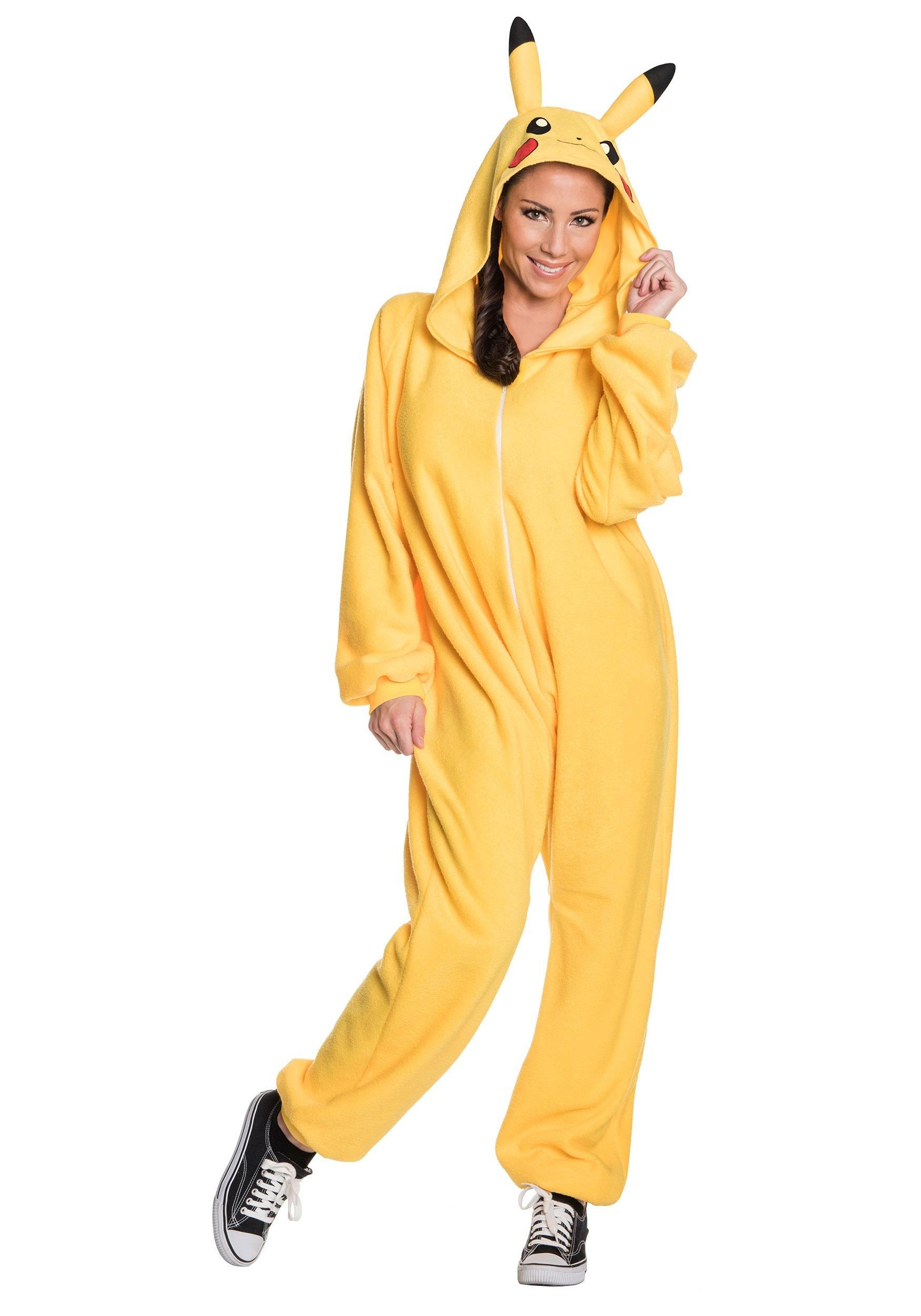 4c46de002ea4 Adult Pikachu Jumpsuit Costume