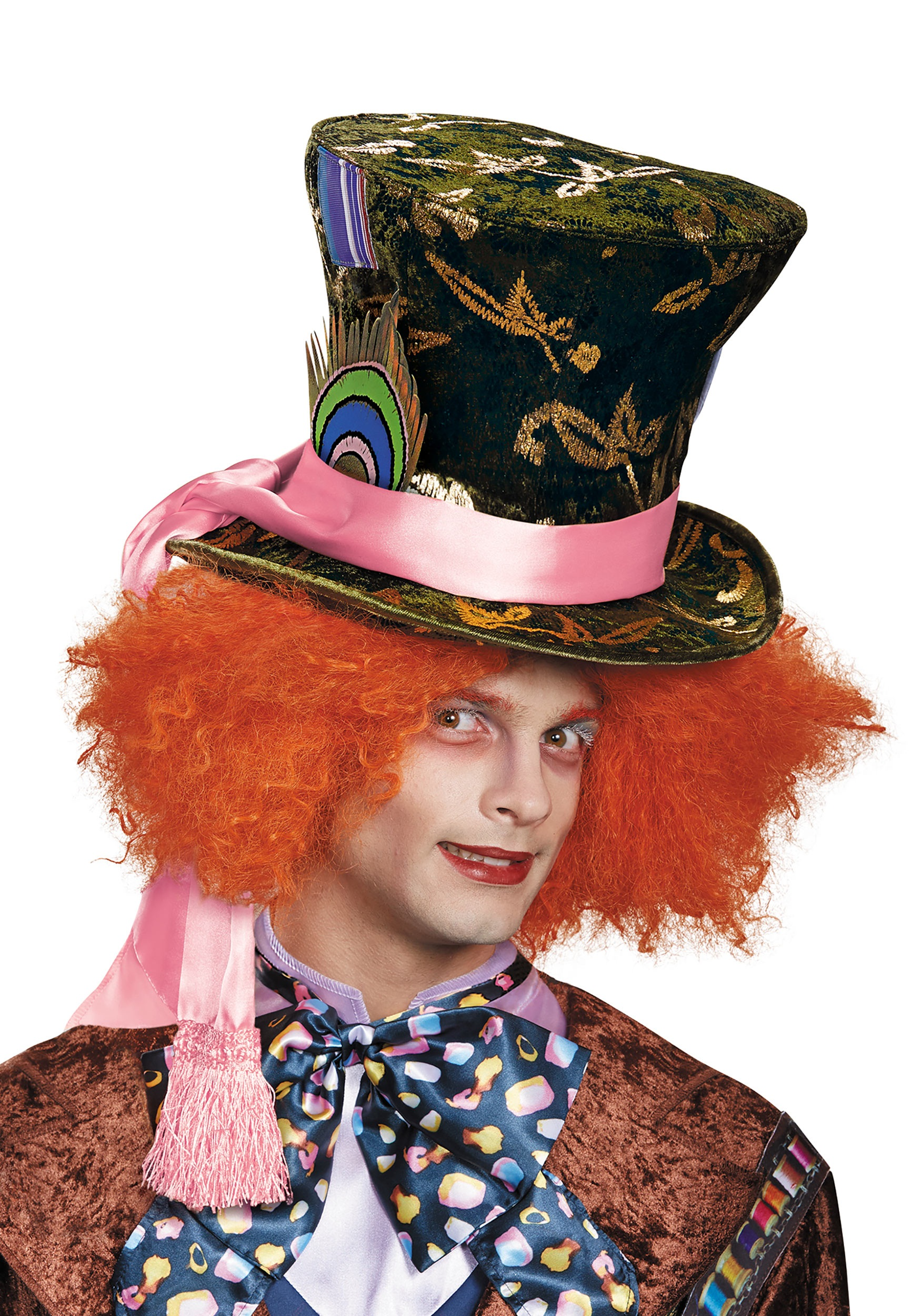 Mad Hatter hat with wig Adult One Size