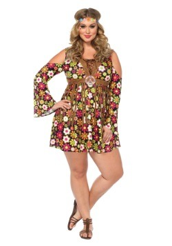 Plus Starflower Hippie Costume