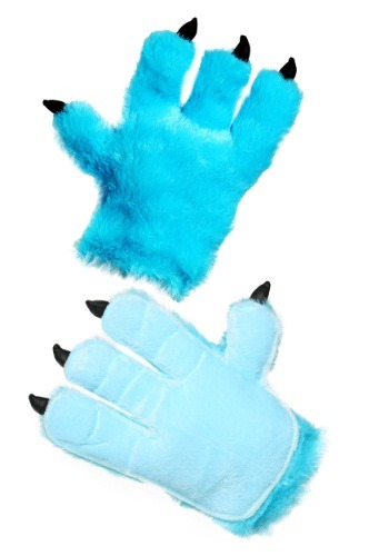 Adult Blue Monster Hands