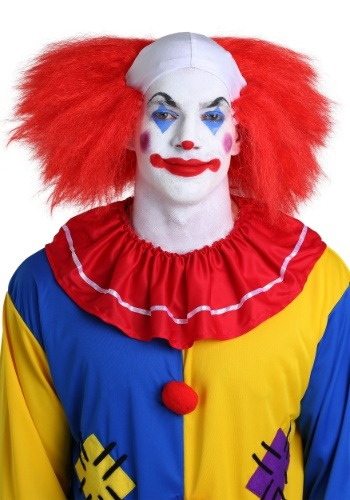 Red Clown Wig With Bald Spot