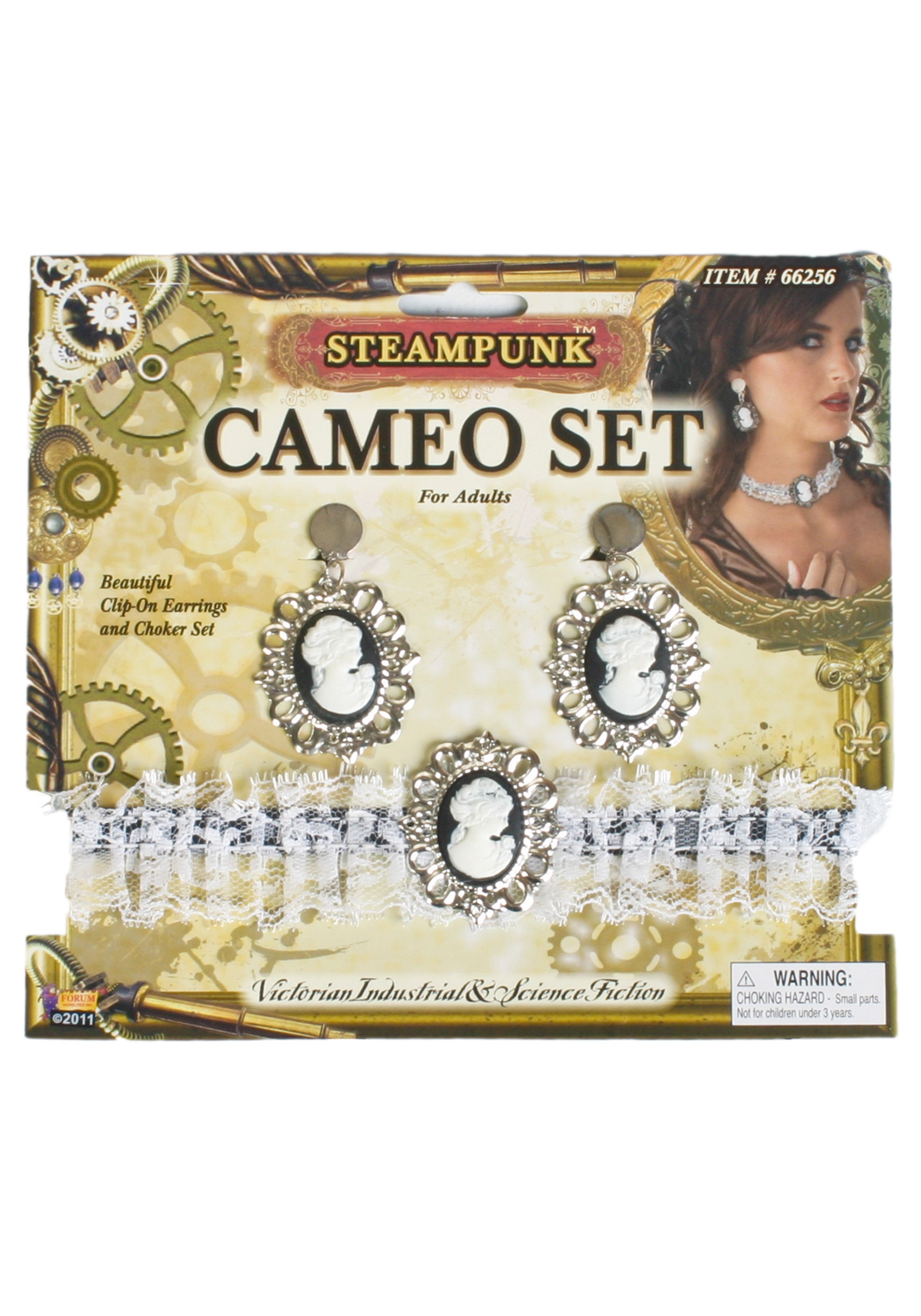 Steampunk Cameo Set - Victorian Cameo Jewelry