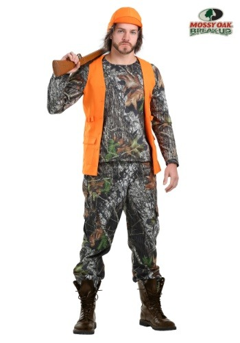 Men's Plus Size Camo Hunter Costume