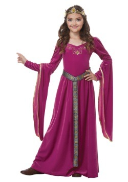 Girls Medieval Princess Costume