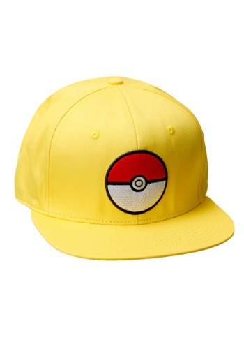 Pokemon Pokeball Trainer Yellow Snapback Hat