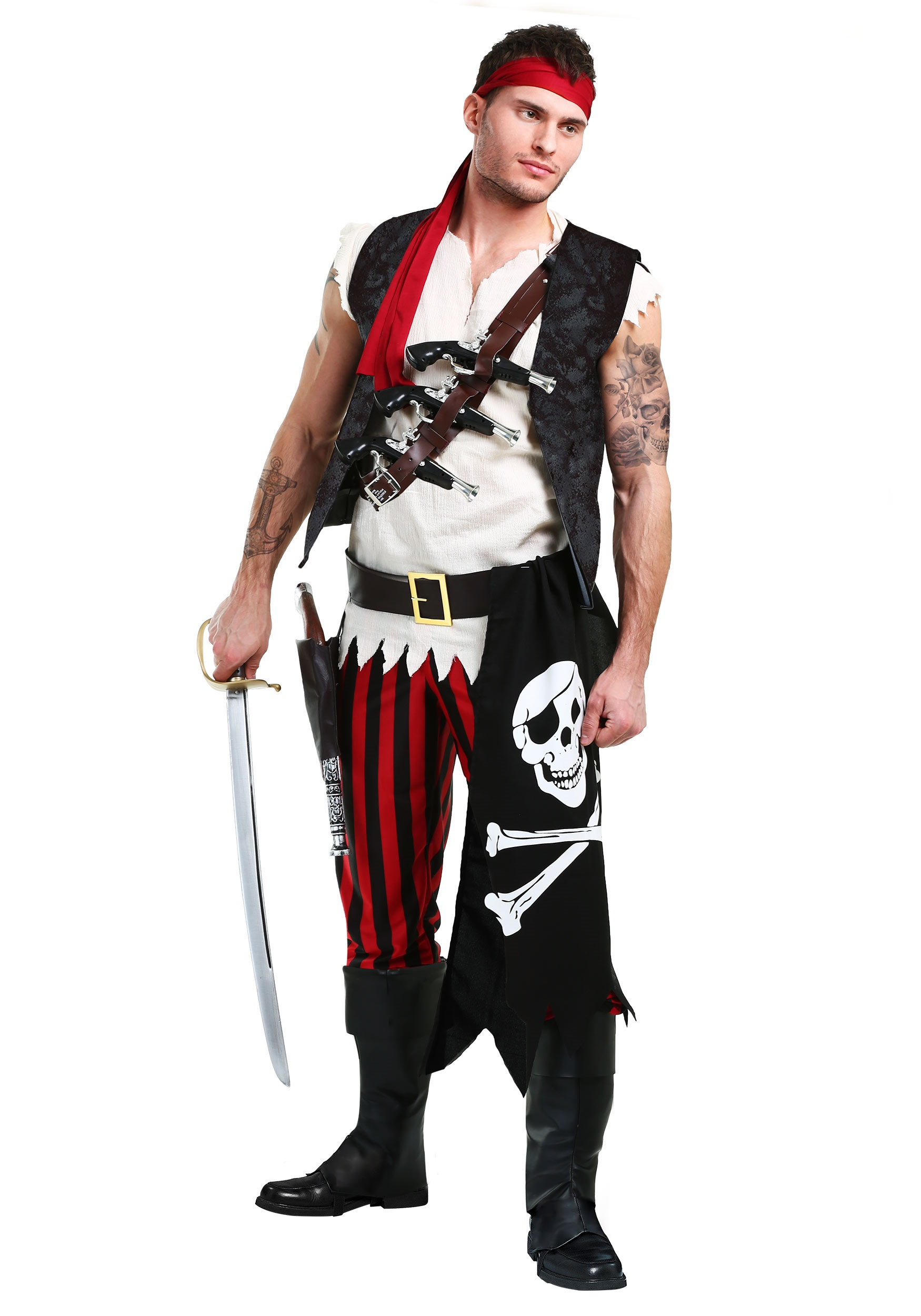 Men\u0027s Fighting Deckhand Pirate Costume