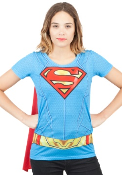 Supergirl Suit Up Sublimated Cape Tee