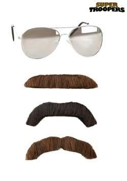 Adult Super Troopers Mustache and Sunglasses Kit