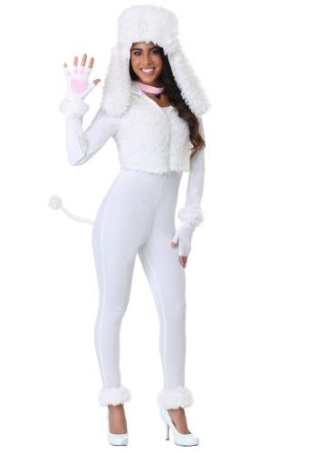 Women's White Poodle Costume