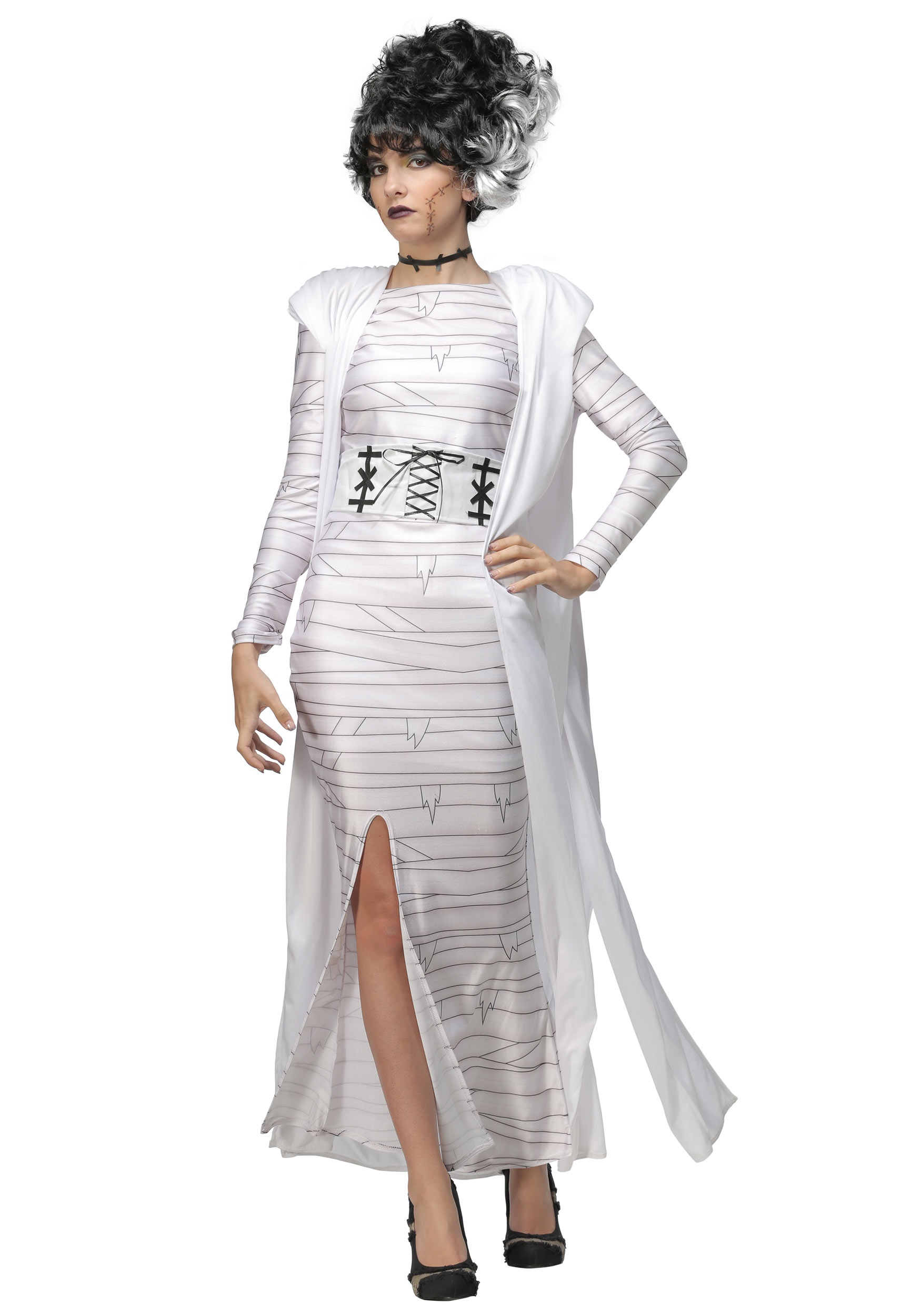 Bride of frankenstein costume, frankenstein bride monster costume