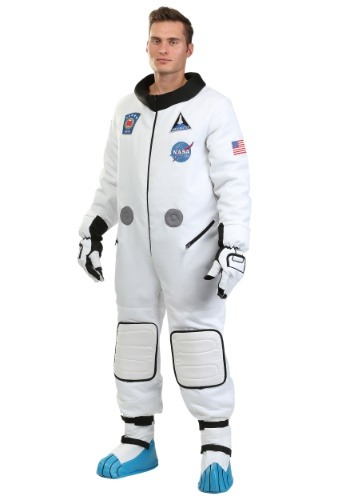 Plus Size Mens Deluxe Astronaut Costume